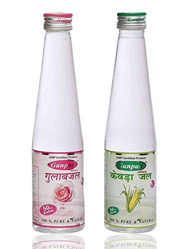 Ganpati Herbal Kewra Water 250 ml & Rose Water 250 ml Combo Pack