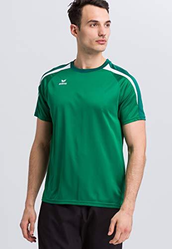 Erima GmbH Liga 2.0 Camiseta, Hombre, Verde (Smaragd/Evergreen) / Blanco, XXL