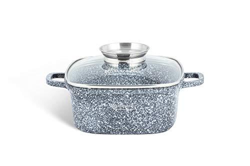 EB-8001 Keramik-Granit-Topf 2.8L Durchmesser: 20 cm Hitzebeständig. Aus Aluminium, Antihaftbeschichtung. Perfekt für Gas-, Elektro-, Halogen-, Keramik- und Induktionsherde (2,8L)