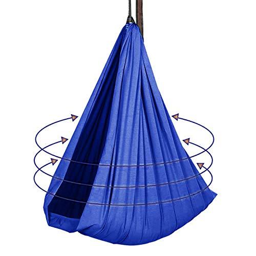 ZCXBHD Hamaca Acurrucada con 200 Kg Carga para Niños con Necesidades Especiales Columpio Sensorial Terapia Interior para Integración Sensorial Adultos (Color : Blue, Size : 150x280cm/59x110in)