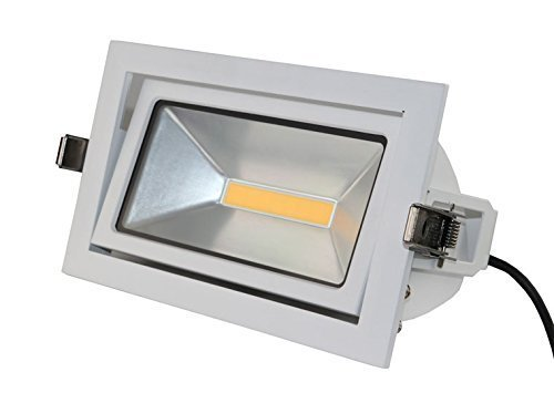 LED Deckenleuchte weiß eckig schwenkbar 35W 3000K 2800lm 120° Abstrahlwinkel IP65