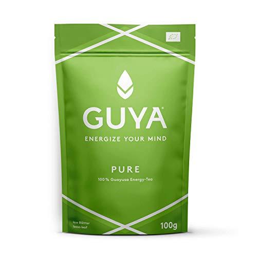 Bio Guayusa Tee lose (Pure, 100% Guayusa) | 100g für 40 Tassen | Kaffee Alternative ohne Herzrasen | Mehr Fokus, Konzentration, Gedächtnisleistung & Ausdauer | Natürliches Koffein & L-Theanin