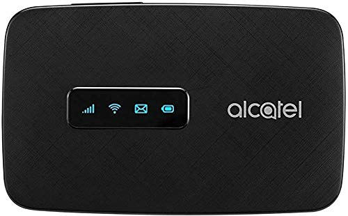 Alcatel LINKZONE Mobile 4G LTE WiFi Hotspot (US + Global 4G LTE) w/iOS & Android App, GSM Unlocked Upto 150mbps, Up to 15 Users MW41NF-2AOFUS2 (AT&T, T-Mobile, Metro, Cricket)