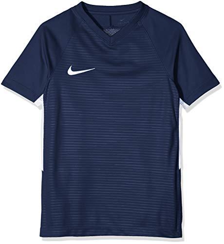 Nike K Tiempo Premier SS Camiseta, Unisex-Niños, Azul (Midnight Navy/White), XS