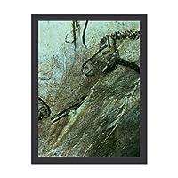 INOV 馬 黒い部屋 石 絵画 アートフレーム ポスター 壁掛け 壁飾り 絵画 アートパネルフレーム 額縁 ウォールデコ おしゃれ 飾る 記念 ギフト模様替え
