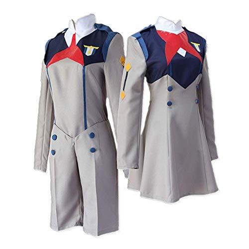 COSPARKY Anime Darling im FRANXX HIRO Code: 016 & Ichigo Code: 015 Cosplay Kostüm Halloween Kostüm Schuluniform für Damen Herren Ganzer Satz Herrenuniform