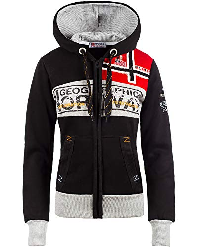 Geographical Norway Bans Production Sudadera con capucha para mujer negro L
