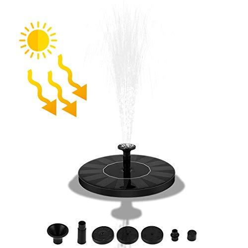 Writtian Solar Springbrunnen, 1.5W Solar Teichpumpe mit 4 Effekte | Maximum 70cm Höhe Solar Wasserpumpe | Solar schwimmender Fontäne Pumpe für Gartenteich Oder Fisch-Behälter Springbrunnen Vogel-Bad