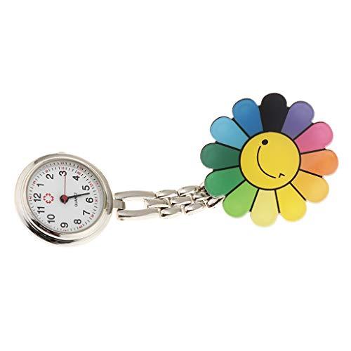 Sharplace Reloj de Bolsillo con Movimiento de Cuarzo Importado, 6 Estilos