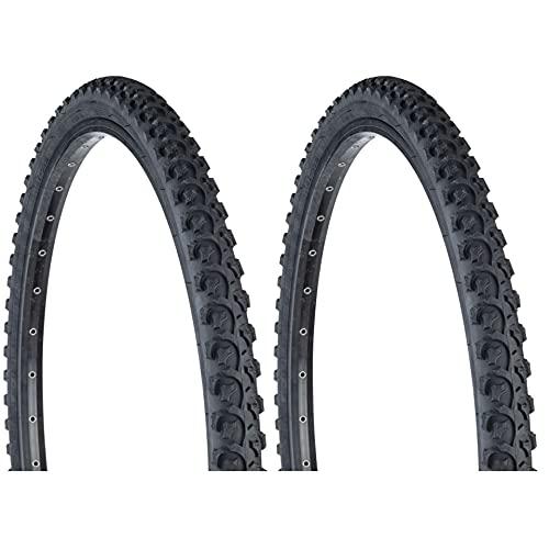 Sunlite Bicycle K831 Alpha Bite Mountain Tires PAIR 26x1.95' Black Trail Knobby