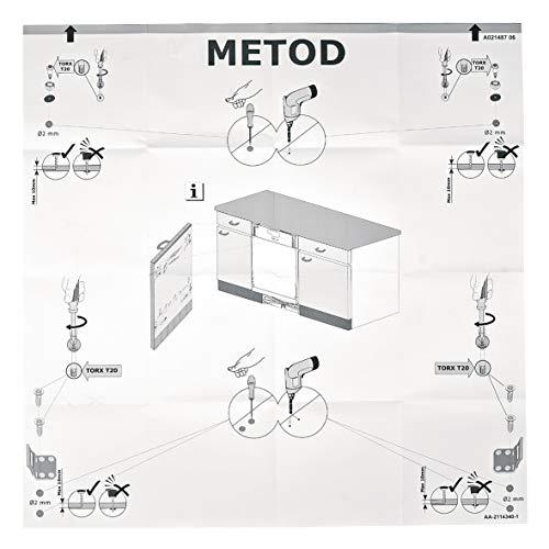 Einbauschablone Vorlage Schablone Bohrhilfe Montageschablone Montagehilfe METOD Geschirrspüler ORIGINAL Whirlpool Bauknecht 140021487032