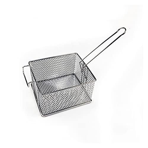 Cesta frita de acero inoxidable Cesta de freír perforado espesado de acero inoxidable papas fritas de fritos de freír freír la cesta de malla especial para la freidora eléctrica comercial Cesta para t