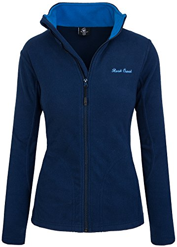 Rock Creek Damen Fleecejacke Fleece Jacke Übergangs Jacke Sweatjacke D-389 [Navy XS]