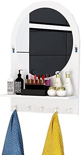 Wooden Mirror Cabinet Bathroom Wall Storage Organizer Shelf with Special sale Cheap SALE Start item