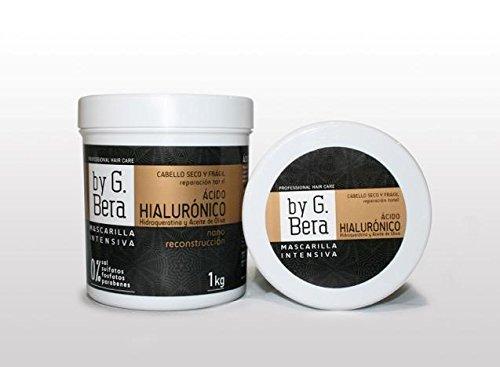 Mascarilla Profesional ACIDO HIALURONICO, HIDROQUERATINA Y ACEITE DE OLIVA. VOLUMEN