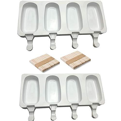 IWILCS Stampi per Gelato, Stampo Gelato Popsicle Ice Maker, Stampi per ghiacciolo, 2 pezzi, 40 bastoncini, adatto per torte, gelato surgelato