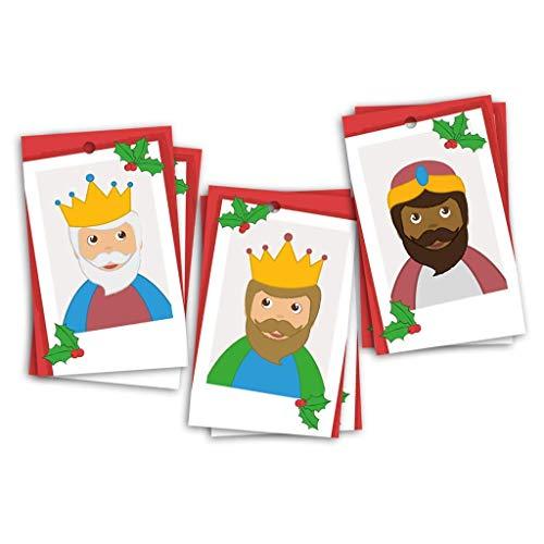 6 etiquetas para los regalos de los Reyes Magos. 8x5cm. Para poner nombre.