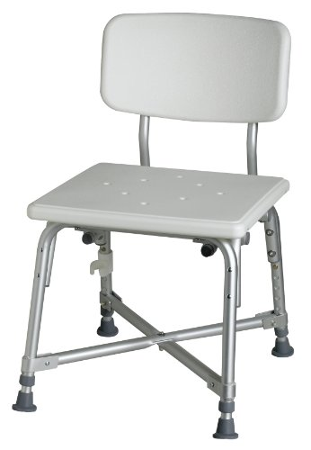 Best Prices! Medline Bariatric Aluminum Bath Bench with Back
