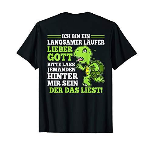 Langsamer Läufer Laufen Schildkröte Halbmarathon Joggen Lauf T-Shirt