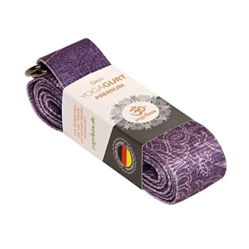 Yogagurt Premium div. Designs u.a für Kundalini, Bikram, HotYoga, Ashtanga Yoga, Mandala Klassik Ultra Violet