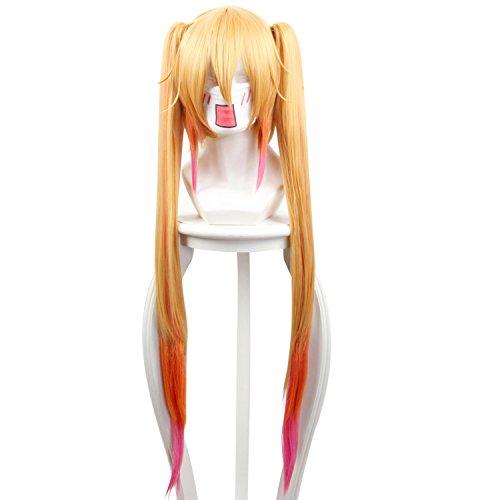 Cfalaicos 34'' Kobayashi-san Chi no Maid Dragon Tooru Cosplay Wig with 2 Clips on Ponytails