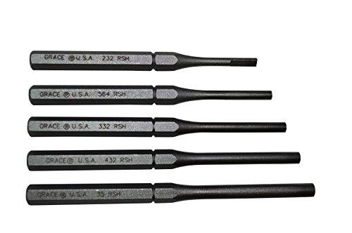 Grace USA - Roll Spring (Pin) Holder Set - RSH-5 - Gunsmithing - Roll Pin Holders - 5piece - Gunsmith Tools & Accessories, Black (GRRSH5)