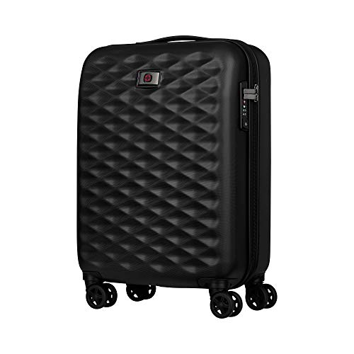 Wenger 604336 LUMEN HARDSIDE 20' Luggage Carry On, Strong polycarbonate shell with a TSA Approved Combination Lock in Black {32 Litres}