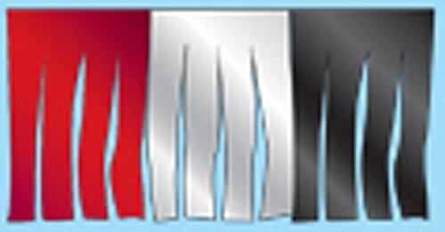 Mirror-Brite Metallic Starburst Fringe Pennants Streamers 60' String (Style RSK- Red/Silver/Black)