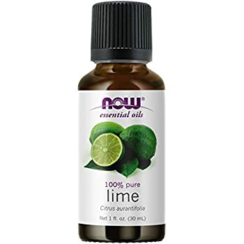 NOW Essential Oils Lime Oil Citrus Aromatherapy Scent Cold Pressed 100% Pure Vegan Child Resistant Cap 1-Ounce 2 Pack