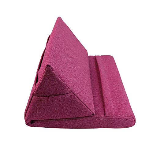 SYSI Multi-Angle Tablet Soft Pillow, Phone Pillow Lap Stand for iPads, Tablets, eReaders, Smartphones, Books, Magazines (Wine red)
