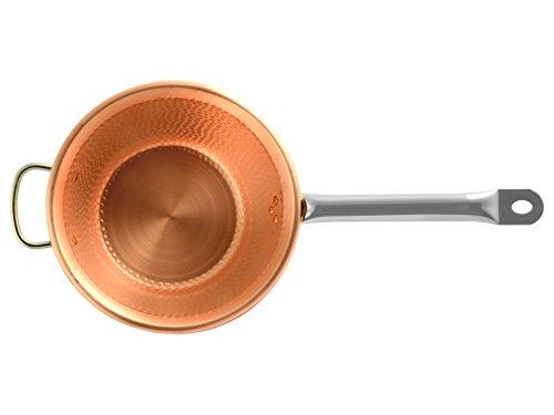 LAR 2325 - Cacerola inducción, Mango de Acero Inoxidable, 25 cm, Cobre, Color Naranja
