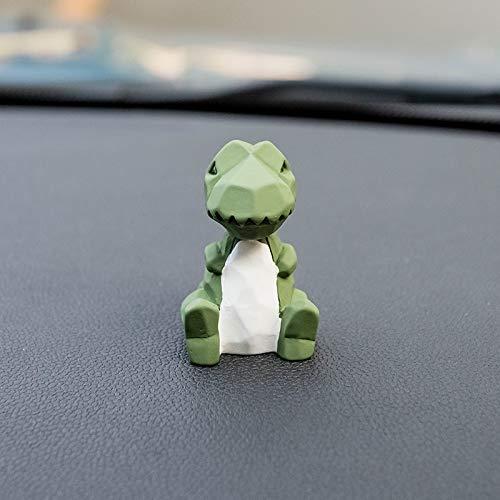 RAP Auto schattige geometrische cartoon dier kleine ornamenten ornamenten creatieve auto decoratie reizen ballon vrouwelijke groene dinosaurus [geometrische pop]
