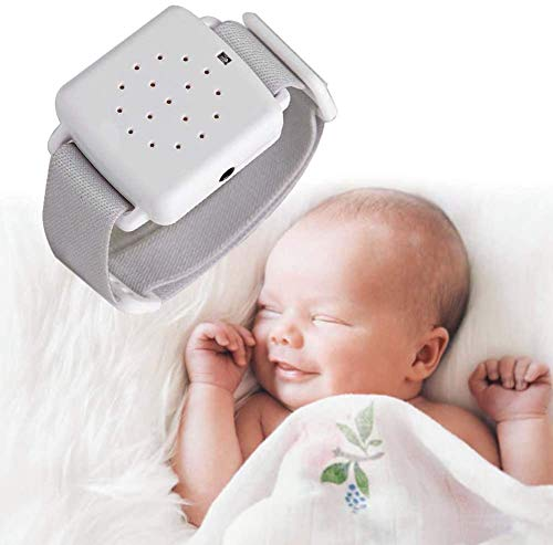 JIN Bedwetting Alarm for Kids Girls Boys and Elderly with Sound and Vibration Moisture Sensor
