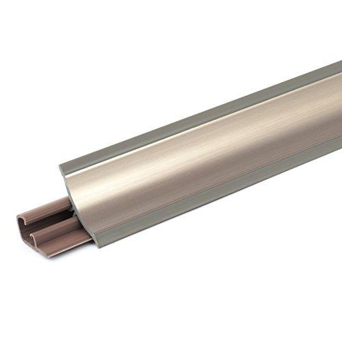[DQ-PP] 3m Winkelleisten Chrom für Küchen 23mm x 23mm Arbeitsplatten Grundprofil Abschlussleiste Küchenabschlussleiste Tischplattenleisten