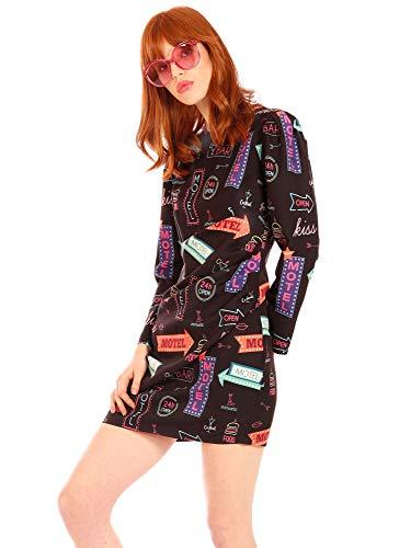 Minueto dames jerseyjurk neon jurk