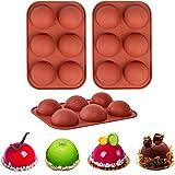 Stampo in silicone per cioccolatini, 3 confezioni di stampi per la cottura al cioccolato caldo, per torte, gelatina, mousse (medio, marrone)