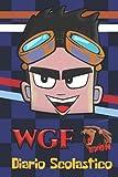 WGF Lyon - Diario Scolastico: Agenda / Diario giornaliero (perpetuo) per la scuola. Da settembre a luglio (1 pagina = 1 giorno).