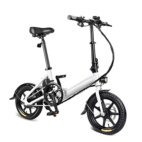 Gizayen Folding Electric Bicycle, Aluminum 14 inch Electric Bike for Adults E-Bike with 7.8AH Built-in Lithium Battery, 250W Brushless Motor And Dual Disc Mechanical Brakes