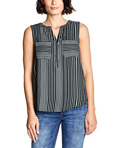 Street One Damen 341488 Bluse, Mehrfarbig (Chilled Green 21348), (Herstellergröße:42)