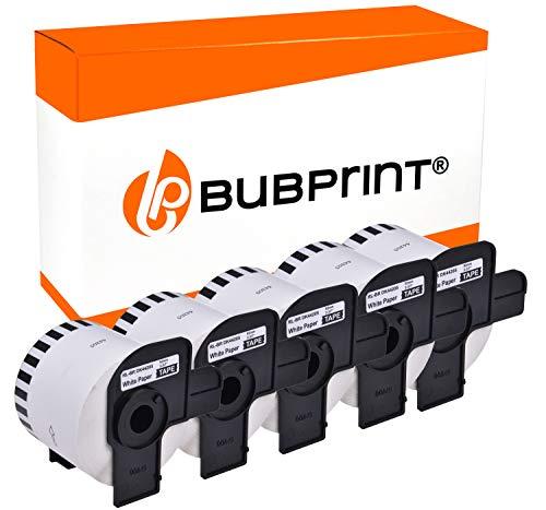 Bubprint 5 Etikettenrollen kompatibel für Brother DK-44205 DK 44205 für P-Touch QL-500 QL-560 QL-570 QL-580N QL-650TD QL-700 QL-710W QL-1050 62mm