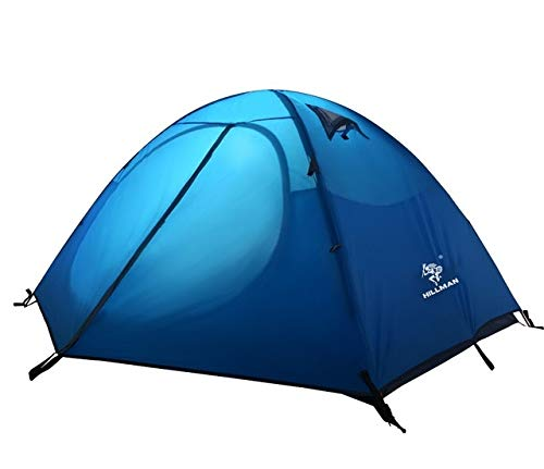 Mdsfe Outdoor tent professional hand with ultra-light 3-4 people double deck windproof waterproof camping tent-Blue