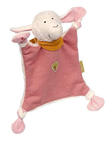 Sigikid Mädchen und Jungen, Schnuffeltuch Schaf Green Collection, Babyspielzeug, empfohlen ab 0 Monaten, rosa/weiß, 39229
