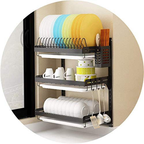 Wall-mounted Dish Rack Shelf Stainless Steel...