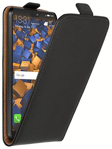 mumbi Tasche Flip Case kompatibel mit Huawei P20 Hülle Handytasche Case Wallet, schwarz