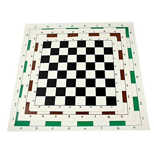 AVOA Schachbrett Schachbrett klein mittel groß PVC tragbar weich rollbar Leder Board ohne Schachfiguren zufällige Farbe Schachbrett (Größe: 43 cm)