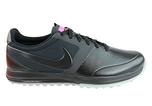 Nike Nike Herren Lunar Mont Royal Golfschuhe, Schwarz/Weiß/Pink (Schwarz/Schwarz-Weiß-Rosa Pow), 40 1/2 EU