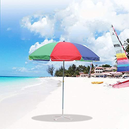 BESTPRVA Acero Inoxidable Sombrilla,Impermeable Viento UV Grande Paraguas Al Aire Libre,Arco Iris Ajustable Paraguas De Playa,para Terraza Y Garden Beach