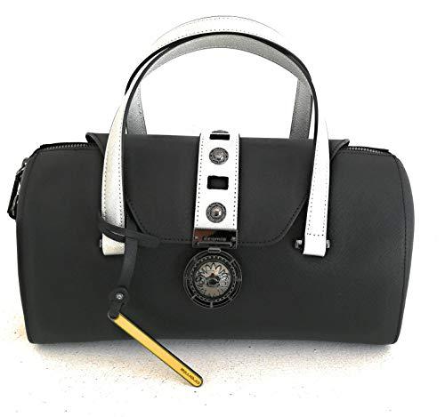 Cromia Damen Handtasche Leder Topcase mit Schulterriemen schwarz Leder Linie GLORIA 1403918 Maße: 30 x 17 x 12 cm.