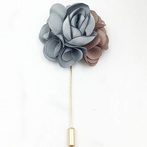 La aguja recta broche nueva práctica tela flor hoja de metal broche de solapa Collar Pin joyería de moda las mujeres Accesorios
