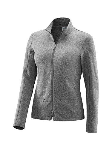 Joy Sportswear Damen Sportjacke PINELLA ideal für Sport und Freizeit | Zip-Jacke | Reißverschlusstaschen 42, Black Melange
